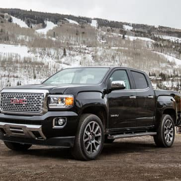 2020 GMC Canyon Denali in the mountains