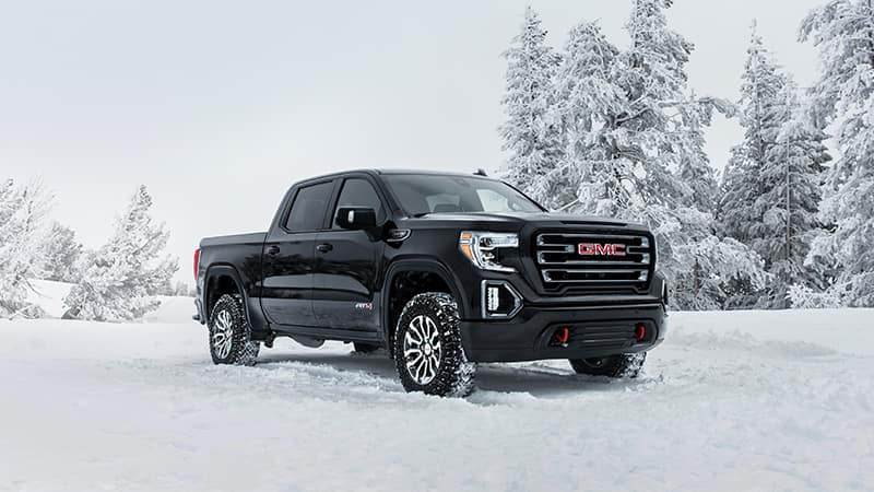 2020 GMC Sierra 1500 AT4 in the snow
