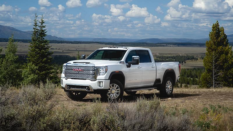 2020 GMC Sierra 2500HD Denali in the country