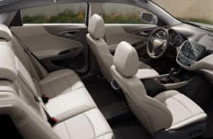 View of the seats in the 2020 Chevy Malibu