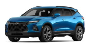 2020 Chevy Blazer in Bright Blue Metallic