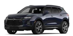 2020 Chevy Blazer in Midnight Blue Metallic
