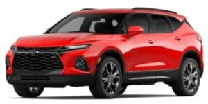 2020 Chevy Blazer in Red Hot