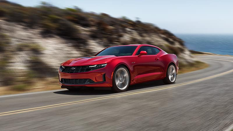 2020 Chevy Camaro Driving on a Road