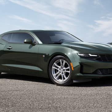 2020 Chevy Camaro in Rally Green Color