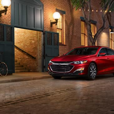 2020 Chevy Malibu Parked Red