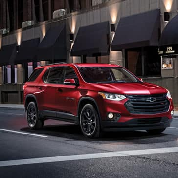 2020 Chevy Traverse in the city