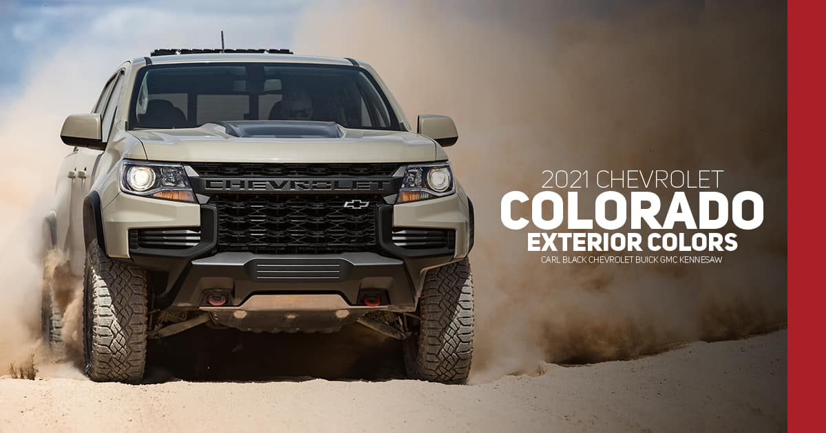 2021 Chevrolet Colorado Color Options - Carl Black Kennesaw