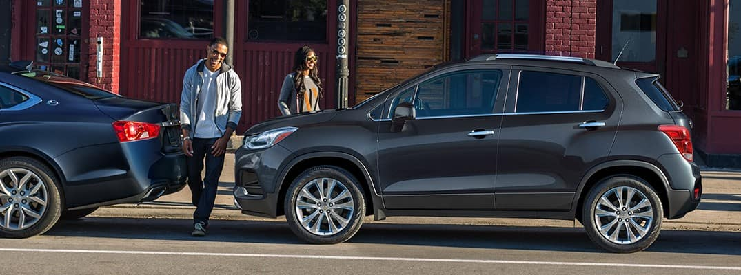 2020 Chevrolet Trax parked downtown