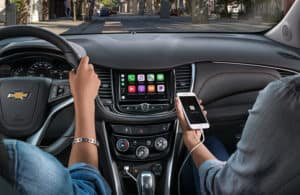 View of two people in the 2020 Chevy Trax