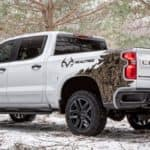 2021 Chevrolet Silverado Realtree Edition parked in the snow