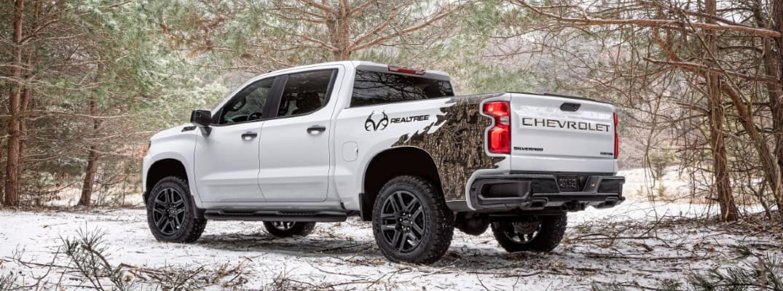 2021 Chevrolet Silverado Realtree Edition parked in the snow