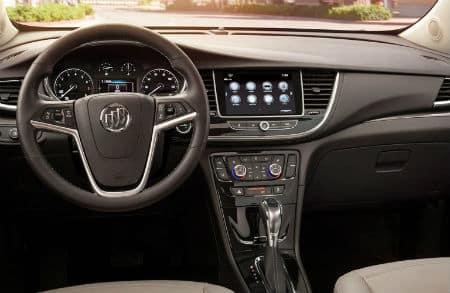 2020 Buick Encore interior front cabin steering wheel dashboard