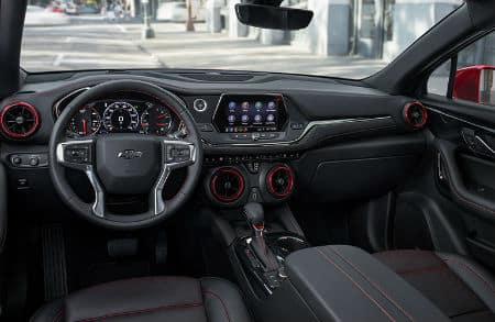 2020 Chevy Blazer interior front cabin steering wheel dashboard