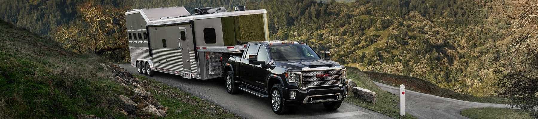 2020 GMC Sierra Duramax Pulling a trailer