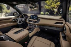 Cabin of the 2021 Chevy Suburban