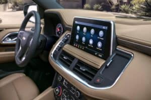 Touchscreen in the 2021 Chevy Suburban