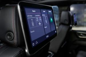 Screen in the 2021 Chevy Tahoe