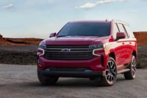 2021 Chevy Tahoe in the desert