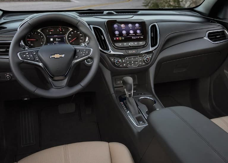 Interior of the 2021 Chevy Equinox