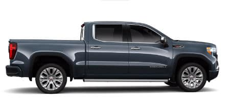 Dark Sky Metallic 2020 GMC Sierra Denali exterior passenger side profile