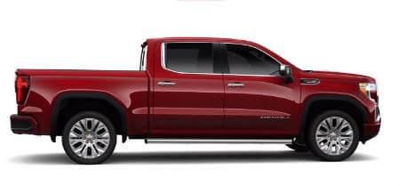 Red Quartz Tintcoat 2020 GMC Sierra Denali exterior passenger side profile