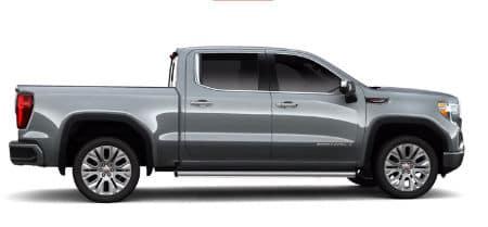 Satin Steel Metallic 2020 GMC Sierra Denali exterior passenger side profile