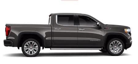 Smokey Quartz Metallic 2020 GMC Sierra Denali exterior passenger side profile