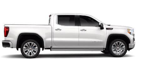 White Frost Tintcoat 2020 GMC Sierra Denali exterior passenger side profile