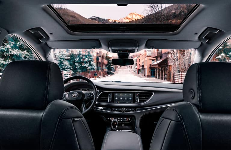 2020 Buick Enclave Dashboard view from back seat