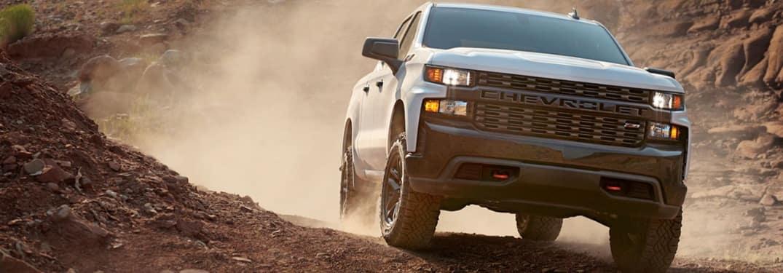 2020 Chevrolet Silverado going through the dirt
