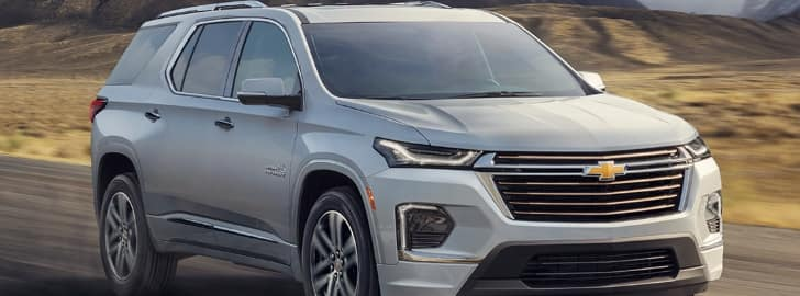 2021 Chevrolet Traverse going down the road