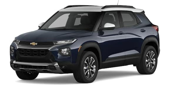 2021 Chevrolet Trailblazer Midnight Blue Metallic and Summit White