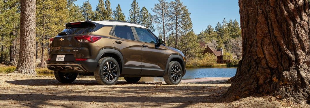 2021 Chevrolet Trailblazer facing the lake