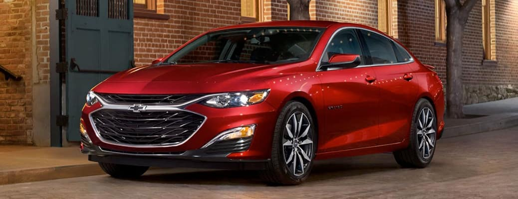 2020 Chevrolet Malibu parked on the side of the road
