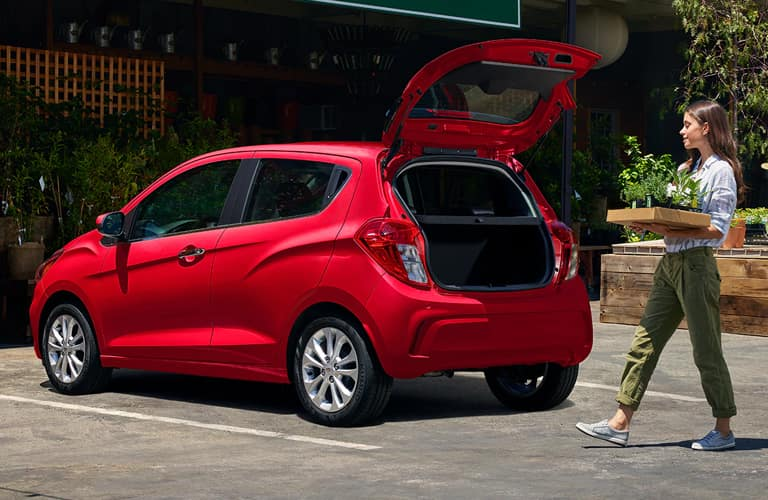 2020 Chevrolet Spark with hatch open