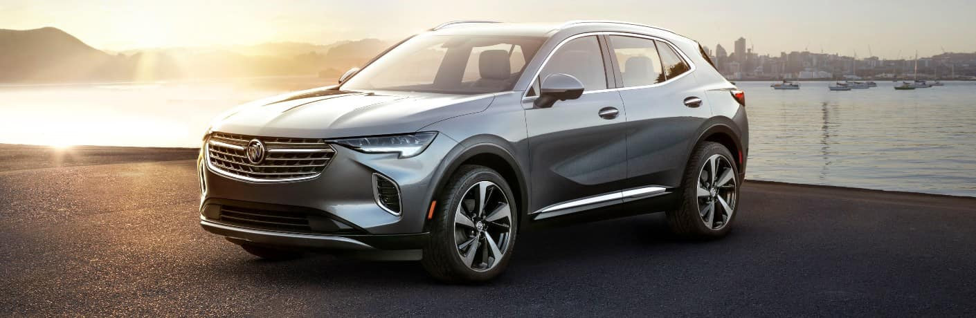 2021 Buick Envision parked next to a lake