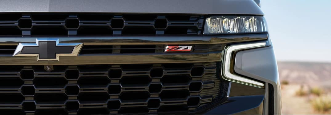 Close up of the grille on the 2021 Chevrolet Suburban