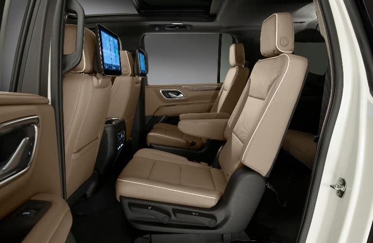 Second row of seats inside of the 2021 Chevrolet Suburban