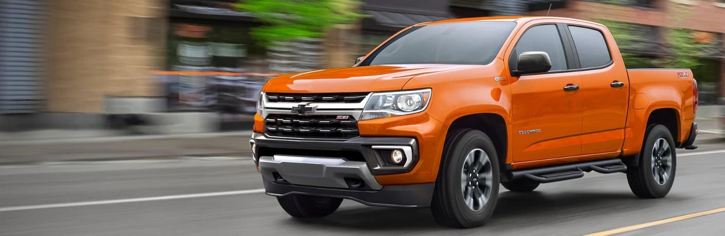 2021 Chevrolet Colorado going down the road