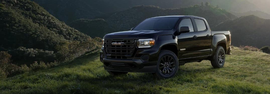 2021 GMC Canyon in a field