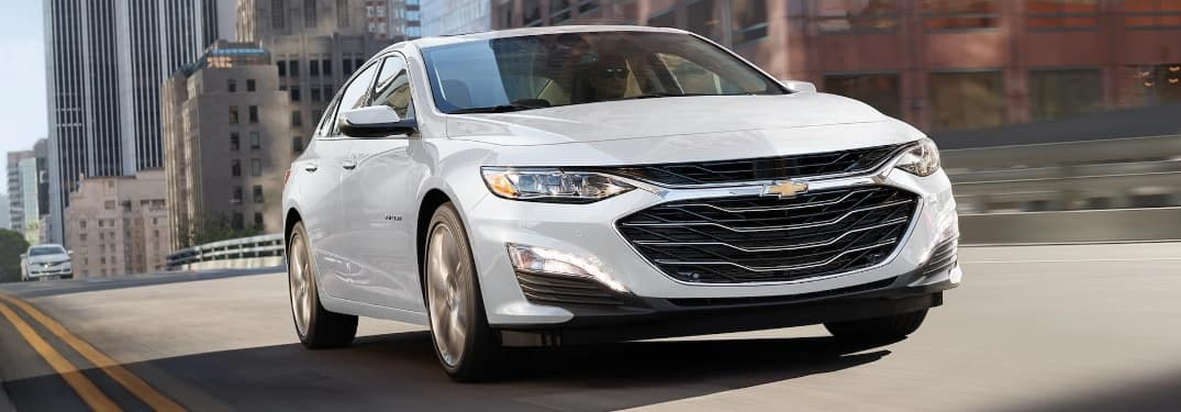 2021 Chevrolet Malibu going down the road