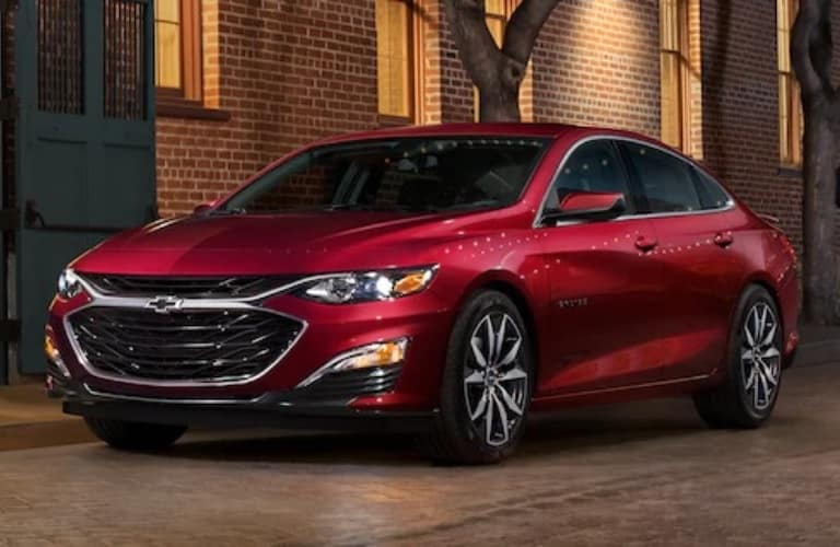2021 Chevrolet Malibu parked on the side of the road