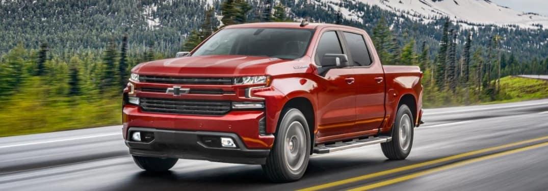 2021 Chevrolet Silverado going down the road