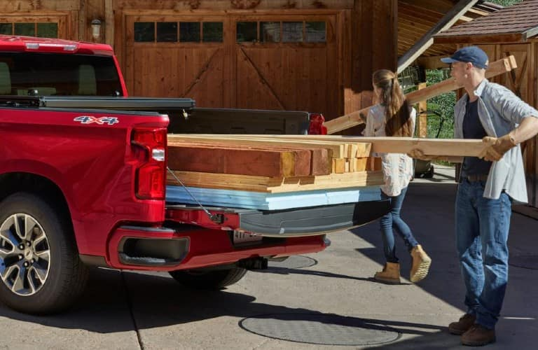 2021 Chevrolet Silverado loaded up with lumbar
