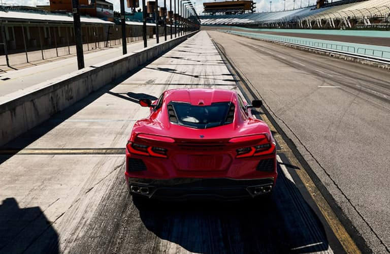 2021 Chevrolet Corvette driving away