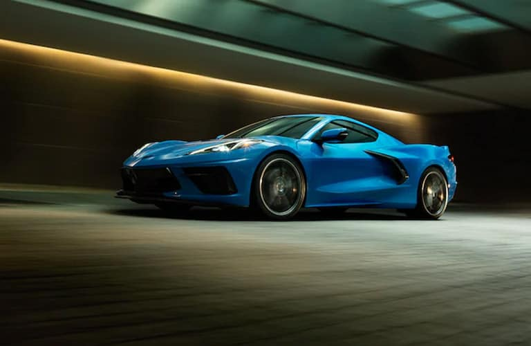 2021 Chevrolet Corvette going down the road