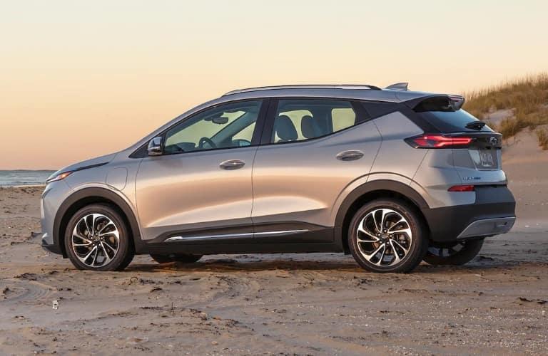 2022 Chevrolet bolt EUV at the beach