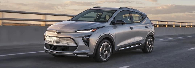 2022 Chevrolet Bolt EUV going down the road