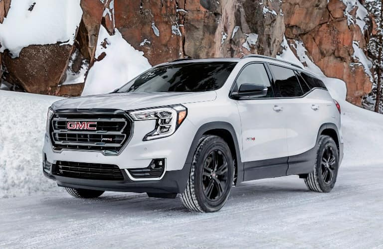 2022 GMC Terrain AT4 in the snowy mountains